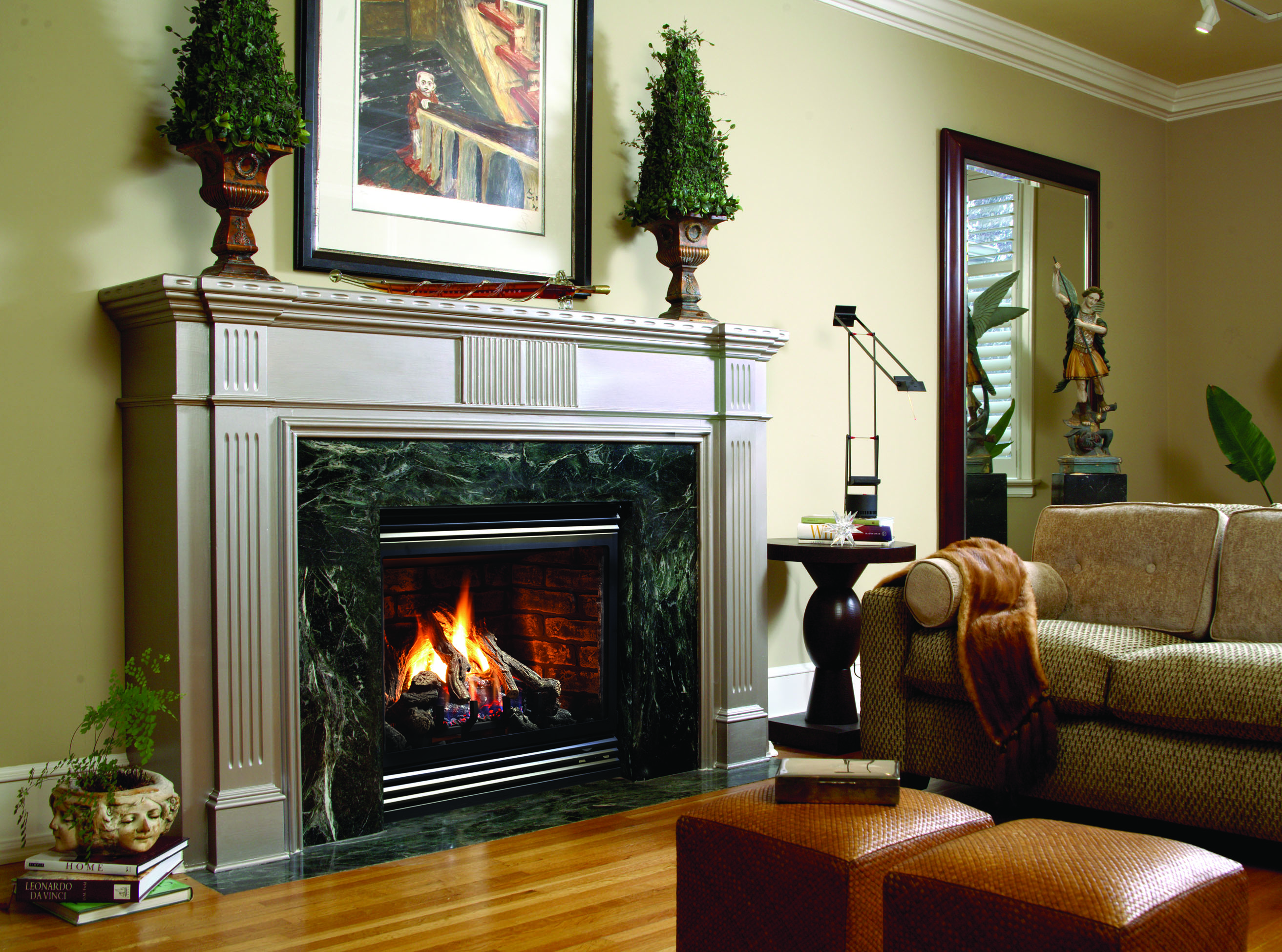 Mount Chesney Mantle Surround with 47 fireplace