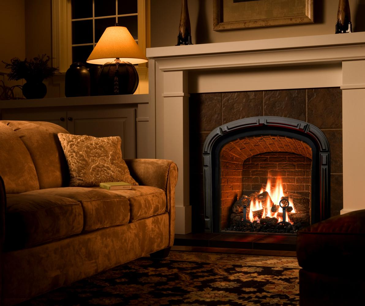 Traditional fireplaces martin 39 s fireplaces - Living room with fireplace ...