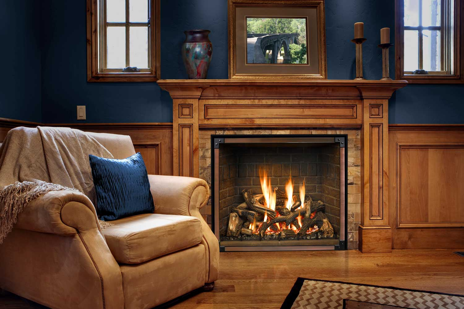 Traditions Mantle with Mendota Fireplace