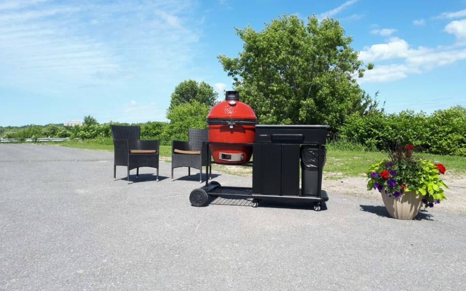 Enjoy your summer with a Kamado Joe all in one Grill and Smoker from Martin's Fireplaces